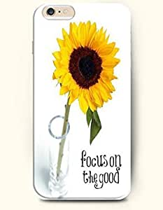 Case Cover For SamSung Galaxy S5 Mini es) Case - Life Inspirational Quotes Focus On The Good / Yellow Sunflower In A Glass Vase