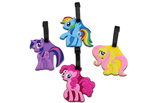 Finex Set of 4 - My Little Pony Travel Luggage Tags Bag ID Tag with Adjustable Strap -