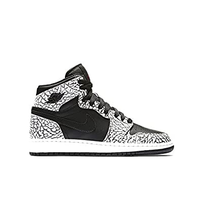 Nike Jordan Kids Air Jordan 1 Retro Hi Prem Bg Black/Gym Red/Cmnt Gry/Anthracite Basketball Shoe 5.5 Kids US