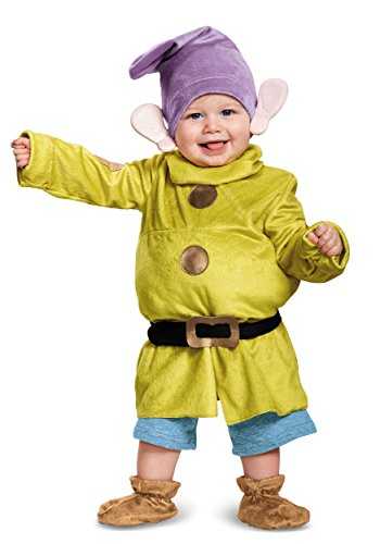 White And Dwarfs Snow 7 Costumes (Deluxe Dopey Baby Infant Costume - Baby)