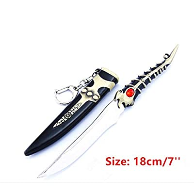 Game of Thrones 1/6 18 cm /7 ''Little Finger Valyrian Steel Dagger Sword Weapon Metal Model Action Figure Arts Toys Collection Keychain Gift Backpack Pendant Party Supplies Desk Room Shelf Decoration: Clothing