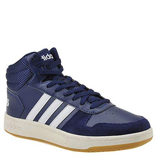 adidas Men's Hoops 2.0 Mid Sneaker, Dark Blue Cloud, used for sale  Delivered anywhere in USA