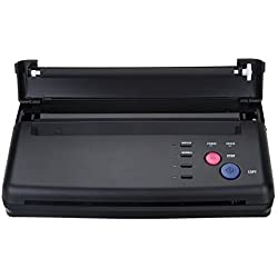 Impresora de transferencia de esténcil para tatuajes en negro Impresora de copiadora térmica con papeles extra