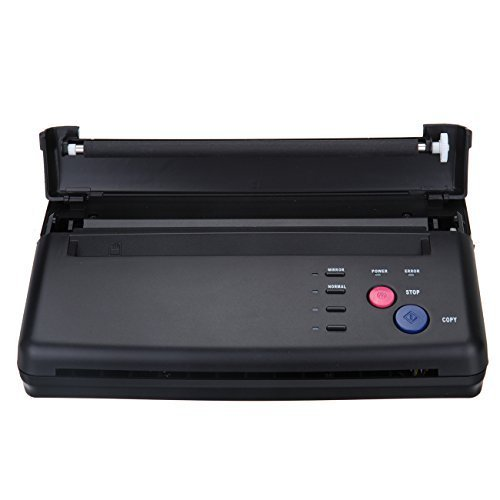 Black Tattoo Transfer Stencil Machine Thermal Copier Printer with Bonus Papers by Aforbetter