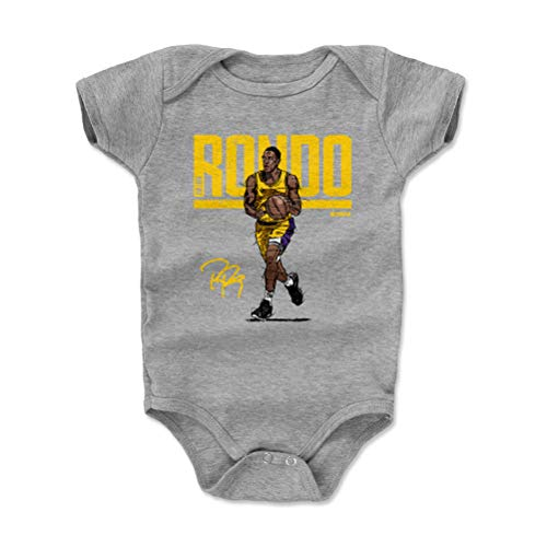 (500 LEVEL Los Angeles Basketball Baby Clothes, Onesie, Creeper, Bodysuit - 3-6 Months Heather Gray - Rajon Rondo Hyper Y WHT)