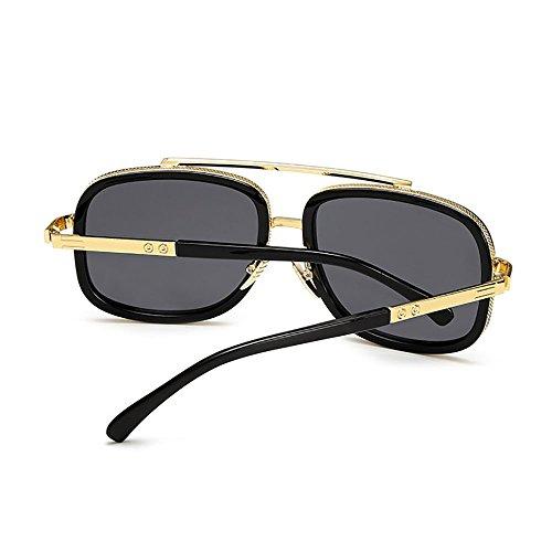 Baratas sol Marco gafas de Mujer Negro SHEEN metal de Vintage Hombre KELLY para y 1gv6a7qEc