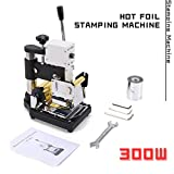 Hot Foil Stamping Machine TBVECHI 300W Hot Foil Stamping Embossing PVC Logo Leather DIY Bronzing Machine