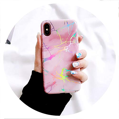 Ice Bear Needs Orders Glossy Phone Case for iPhone 6 6S 7 8 Plus X XR XS MAX Hot Stamping Holographic Laser Marble Soft IMD Cases Cover Fundas,2,for iPhone 8