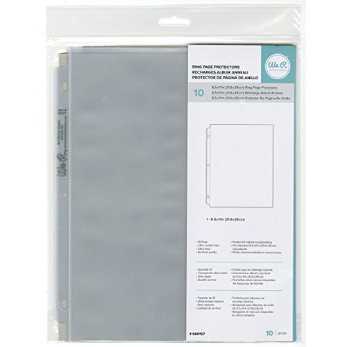 8.5 x 11-inch 3-Ring Album Page Protectors by We R Memory Keepers | 10 pack