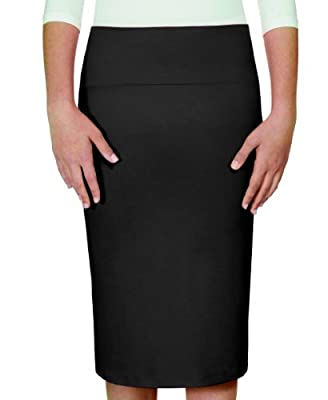 Kosher Casual Women's Modest Knee Length Ultra Lightweight Fitted Pencil Skirt