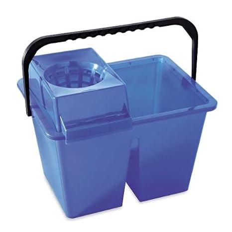 MSV v460515?secchio doppio plastica blu 40?x 30?x 30?cm