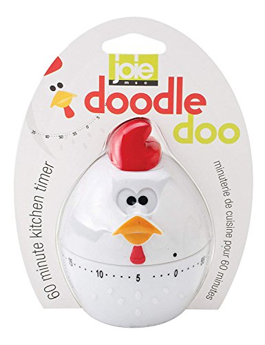 MSC International 89611 Joie Rooster Mechanical Timer, DoodleDoo, White