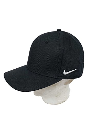(NIKE Team Dri-Fit Swoosh Flex Cap 867308-010 (M/L))