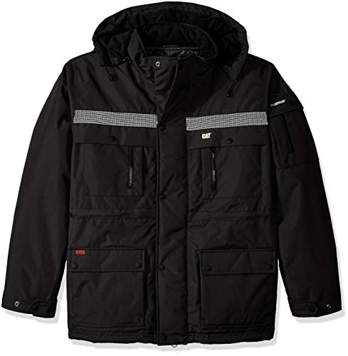 (Caterpillar Men's Heavy Insulated Parka (Regular and Big & Tall Sizes), Black,)