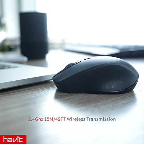 1efb255a420f 2.4G Wireless Mouse HAVIT 2000DPI Optical Mini Portable Mobile with ...