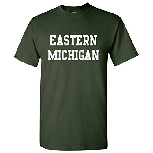 Football Eastern Michigan (UGP Campus Apparel Eastern Michigan Eagles Basic Block T-Shirt - Medium - Green)