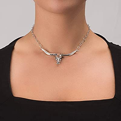 925 Silver 17 Inch Longhorn Necklace
