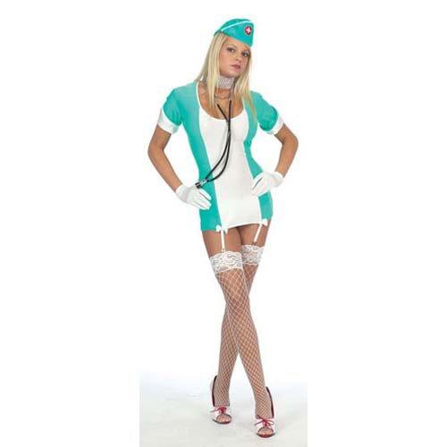 [Sexy Halloween Costumes Vintage Nurse Outfit Costume ML Womens U.S. Medium/Large] (Sexy Vintage Nurse Costumes)