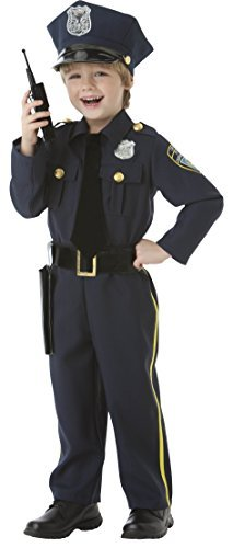 Police Officer Toddler Costumes - Police Officer - 5 Piece Costume Set - Size Small (4-6)
