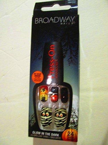 Broadway Press-on Halloween glow in the dark Ready to scare fingernails]()
