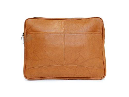 Ashlin Genuine Leather Valise Macbook Air Laptop Case, British Tan [P7302-18-08] by Ashlin®