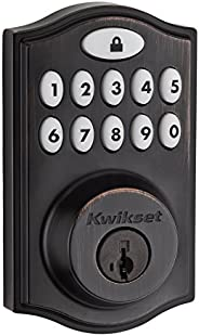 Kwikset 99140-008 SmartCode 914 Keypad Keyless Entry Zigbee Smart Lock Connected Deadbolt Door Lock Featuring