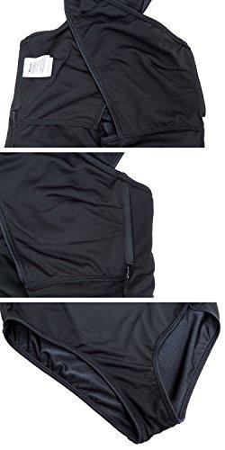 Pezzo un Costume Nero Donna Bagno Anteriore da Schiena Wantdo Croce IRHxwXwqT