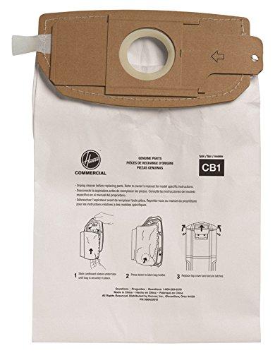 - Hoover Commercial AH10173 HushTone Back Pack Bags, Standard Filtration (Pack of 10)