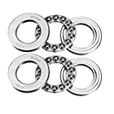 uxcell® 2pcs 51206 Single Direction Thrust Ball Bearings 30mm x 52mm x 16mm Chrome Steel