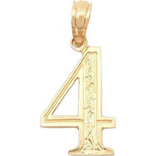 #4 Charm 14k Gold 16.5mm