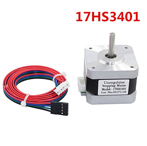 WillBest 1PC 17HS3401 4-Lead Nema 17 Stepper Motor 42 Motor 42BYGH 1.3A CE ROSH ISO CNC and 3D Printer by WillBest