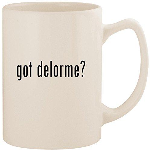 got delorme? - White 14oz Ceramic Statesman Coffee Mug Cup -