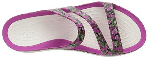 Swiftwater Pink Crocs Flat Women's Floral Graphic W Sandal 5YURYq