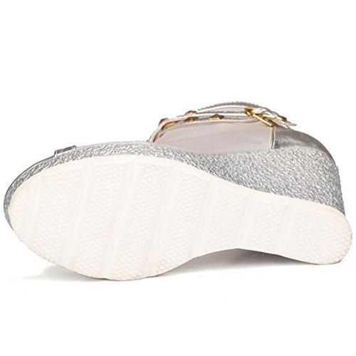 Moda Caviglia Donna Scarpe Silver Zanpa Zeppac 5wFzqnS