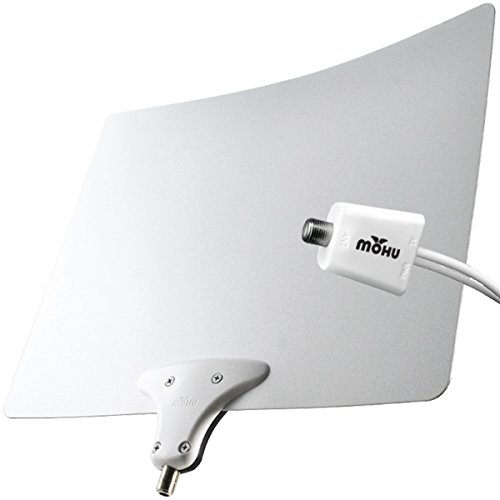 Mohu Leaf 50 TV Antenna Indoor Amplified 60 Mile Range Original Paper-Thin Reversible 4K-Ready Hdtv Premium Materials for Performance (MH-110957)