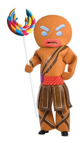 Shrek Child's Costume And Mask, Gingerbread Man Warrior Costume, Large(12-14)
