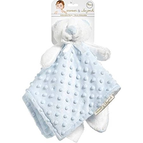 Blue and White Dot Bear Baby Security Blanket (Dot Bear)