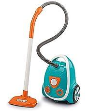 Smoby 330216 - Stofzuiger, elektronisch met zuiggeluid, batterijen inbegrepen, speelgoed voor kinderen, Blauw