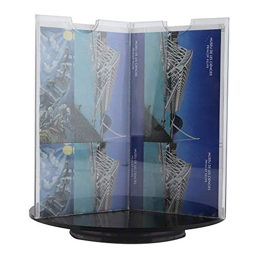 Revolving Photo Cube-Rotating Picture Frame to Display Multiple Photos for Home Office or Desk Table Top Display Practical Gifts Holds 6 Photos