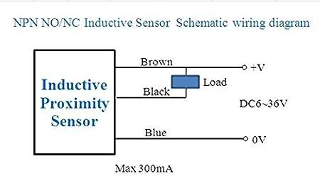 Amazon.com: 2Pcs NJK-5001C NPN NO 10mm Hall Effect Sensor ... on