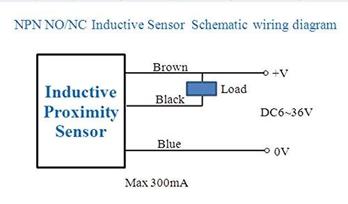 Amazon.com: 5 Pcs Fotek Proximity Sensor PS-05N 5mm NPN out ... on npn proximity sensor wiring, sensor switch wiring diagram, npn prox diagram, proximity sensor wiring diagram, npn schematic, 3 wire sensor diagram, prox switch wiring diagram,