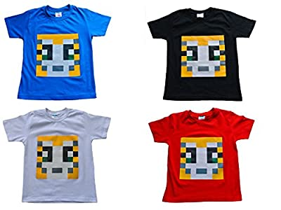 Girls Boys Unisex Stampy Cat Unisex T-shirt You Tuber Tee PIXEL