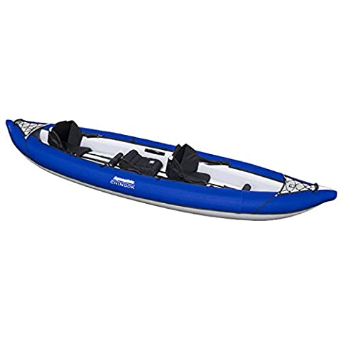 Aquaglide Chinook XP Tandem XL Inflatable Kayak-Blue/White