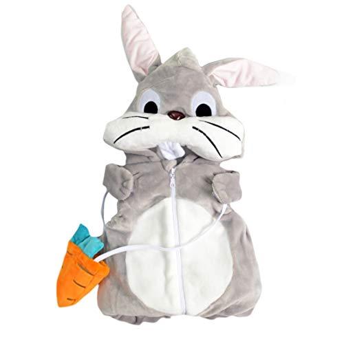 KIMJUN Baby Boys Girls Hooded Vest Kid Hoodie Winter Warm Coat Outerwear Grey Bunny 80 by KIMJUN