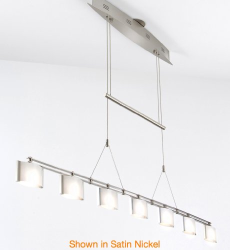 Holtkoetter 5517 HBOB GB50 Halogen Low-Voltage Contemporary Chandelier, Hand-Brushed Old Bronze with B-50 Glass, 63.5