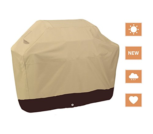Waterproof Heavy Duty BBQ Grill Cover Khaki Barbecue Gas Protector YQ5PB