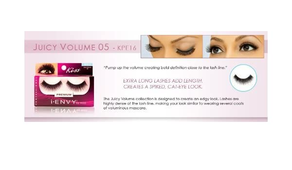 Amazon.com : i.ENVY BY KISS EYE LASH JUICY VOLUME #KPE16 by Kiss : Beauty