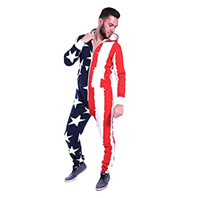 Wholesale Newfacelook Mens Stylish Printed Onesie Hoody All In One Zip Hoodie Men Jumpsuit for sale