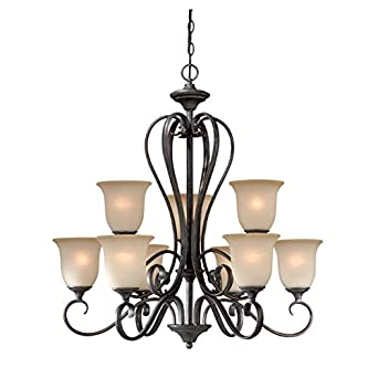 Cassiel Crystal Drum Chandelier, Black
