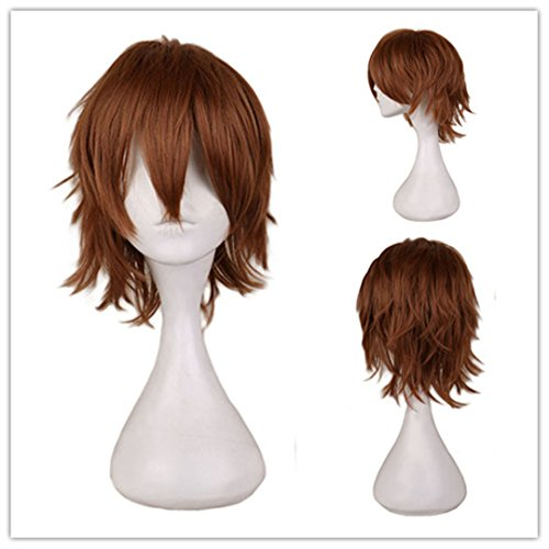 Black White Purple Red Short Hair Cosplay Wig Male Party 30